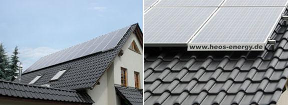 Solar-Panels auf Dächern